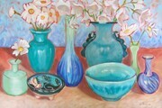 Blue and Turquoise Pots